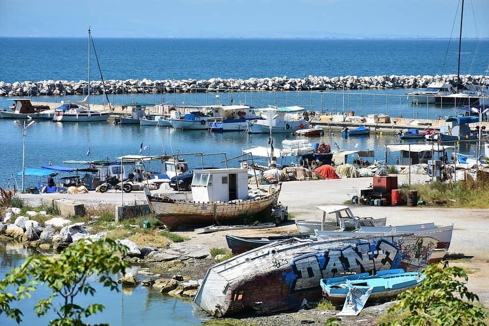 Солун рибарски лодки
