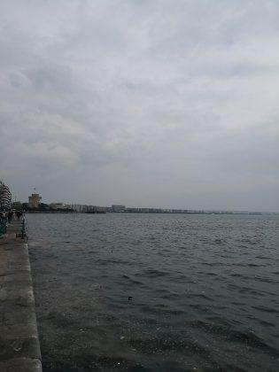 Солун алея край морето