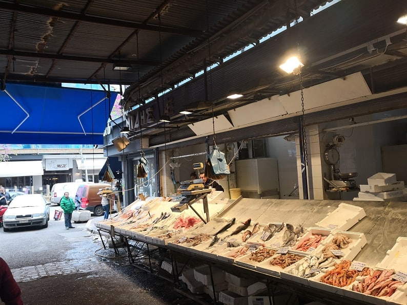 Солун - рибен пазар