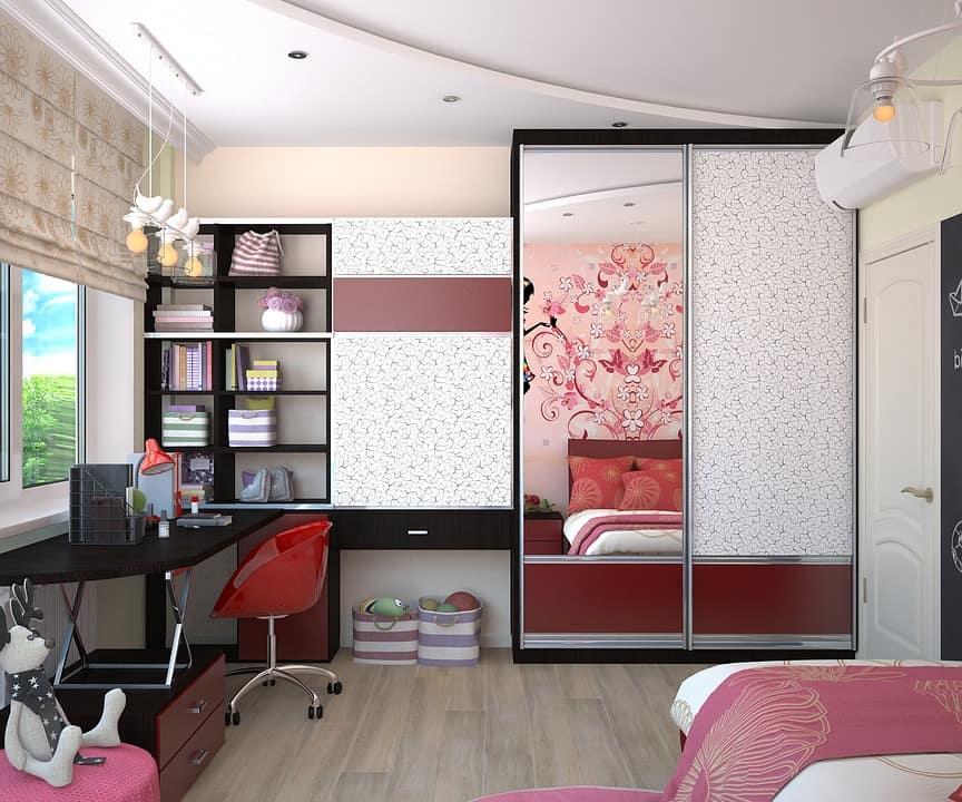 детска стая - украсен гардероб с фолио