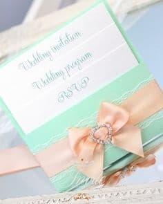 Зелена сватбена покана