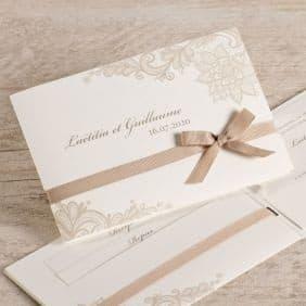 Кафява покана за сватба