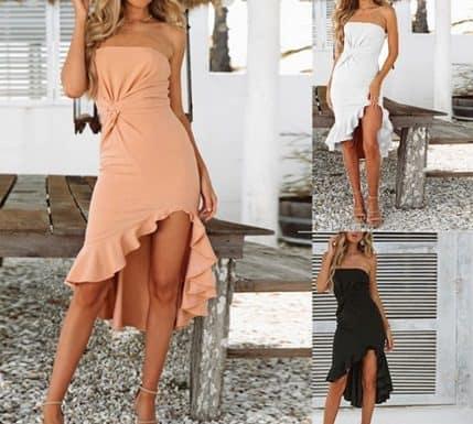 асиметрични къси рокли