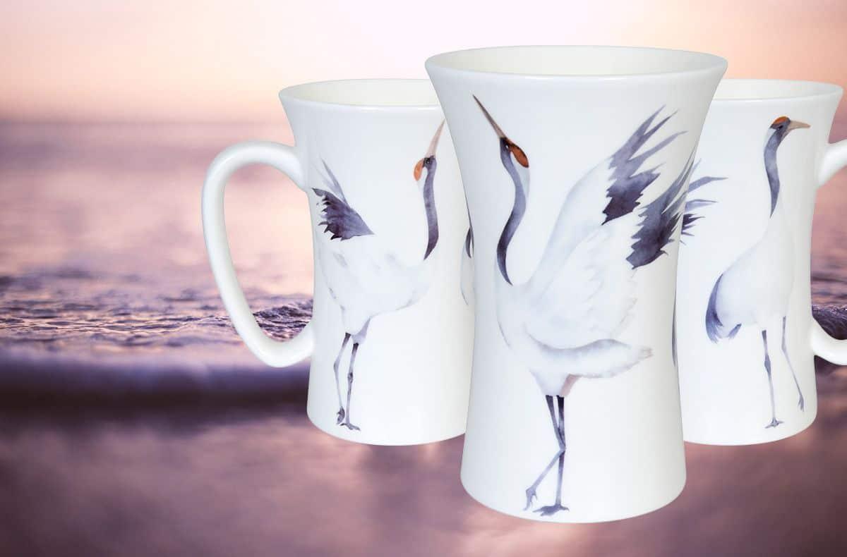 хубави порцеланови чаши с птици